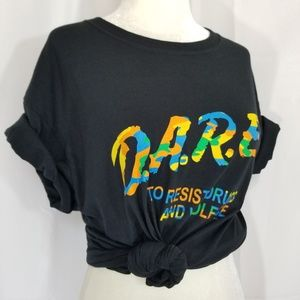 Retro DARE T Shirt Tee Resist Drugs and Violence